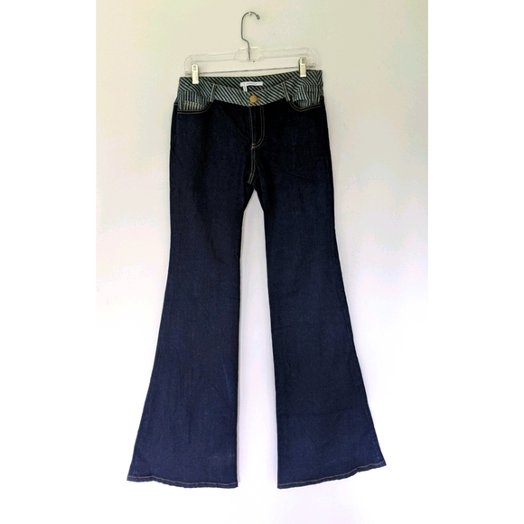 NEW Derek Lam 10 Crosby flare blue jeans